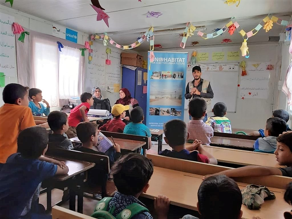 The WASH awareness sessions took place in the Makani Centre, a child-friendly safe space in the camp