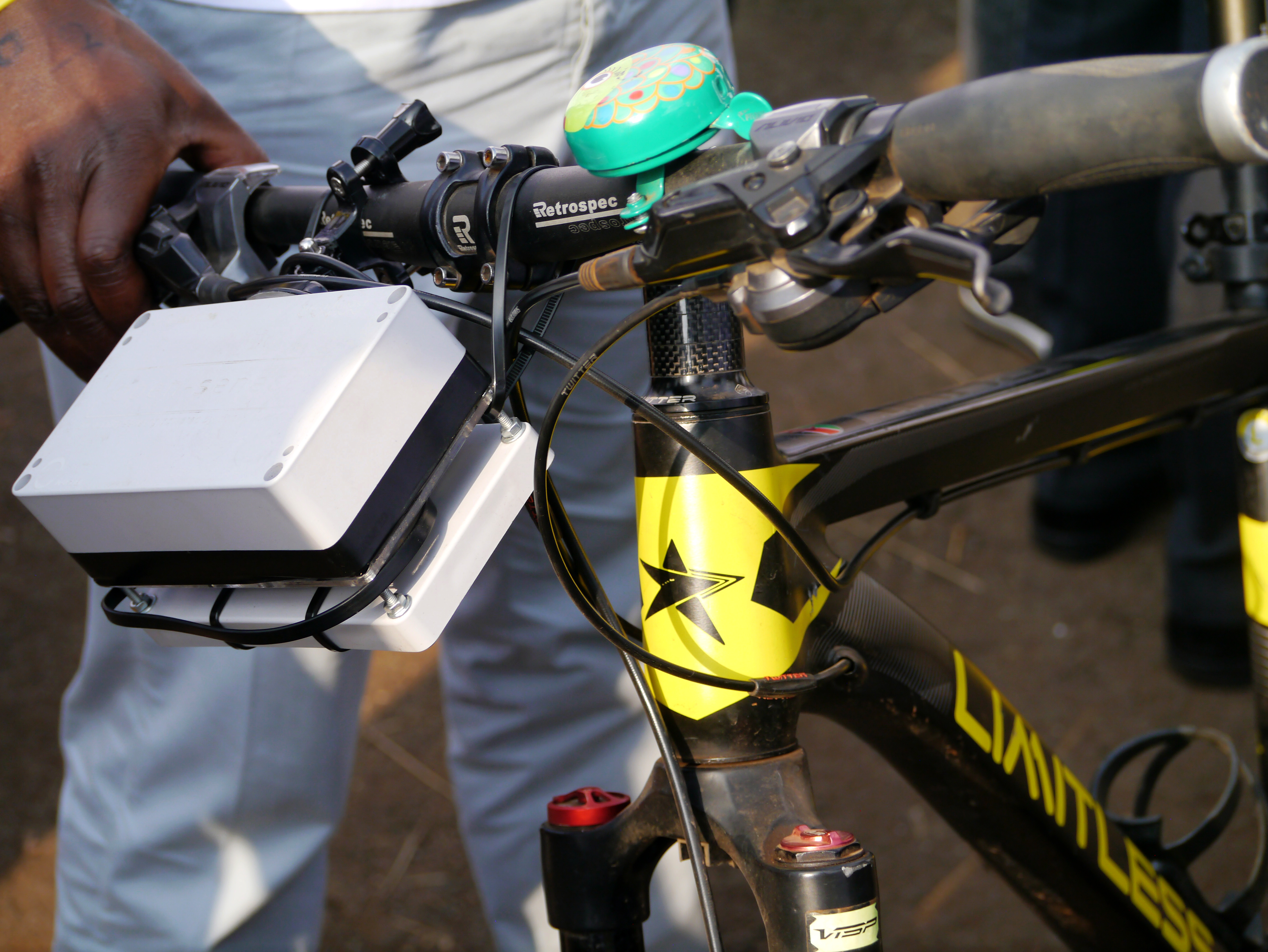 Air Pollution Monitoring Sensor mounted on a bicycle