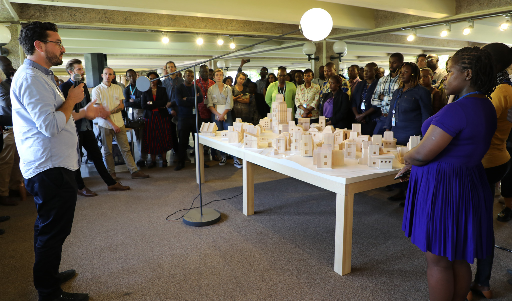 Solarville was presented at the UN offices in Nairobi