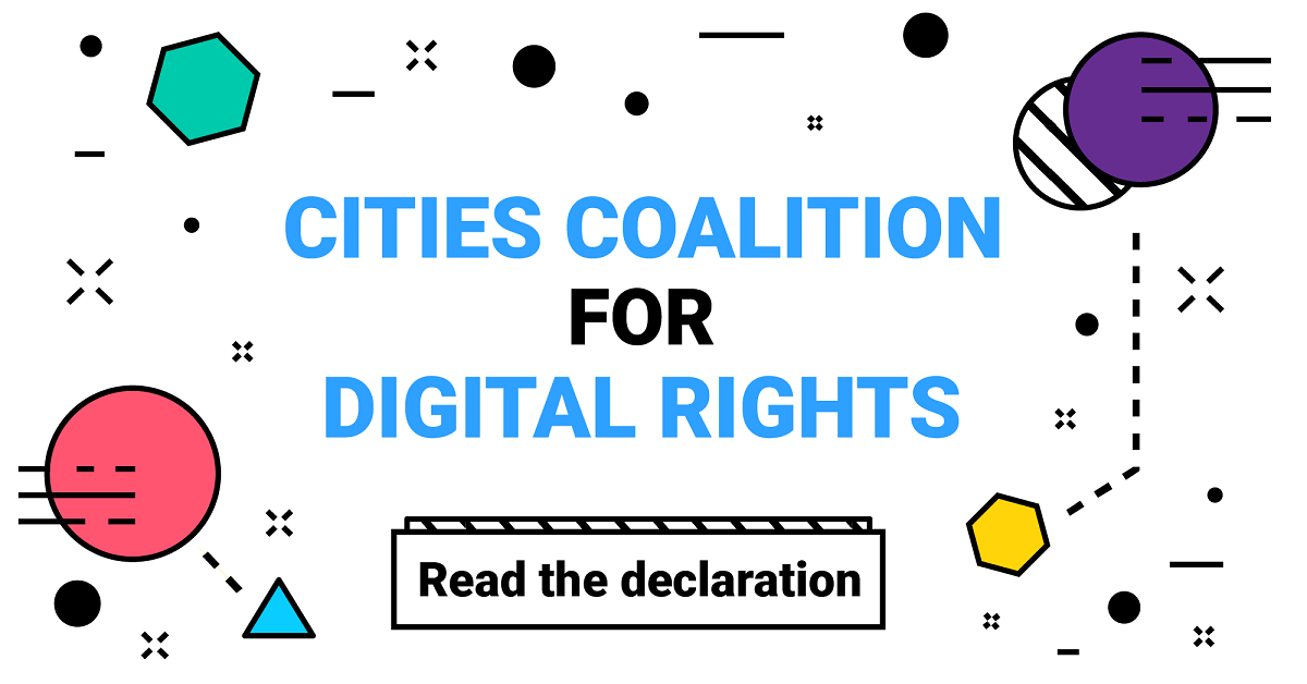 Cities coalition for Digital Rights Logo and Decalaration