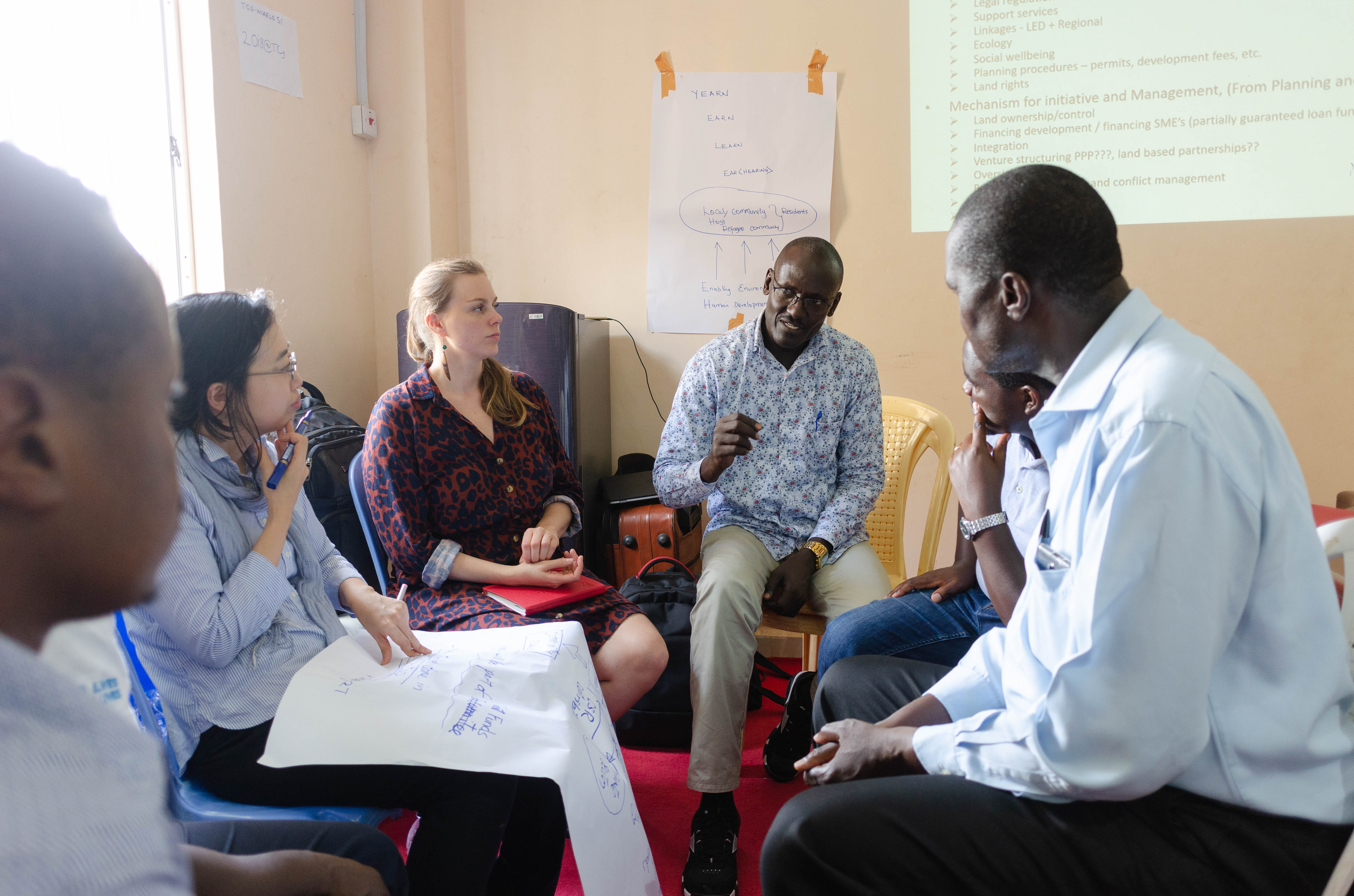 Participants broke into groups, facilitated by members from UN-Habitat, to discuss on the vision of the Corridor