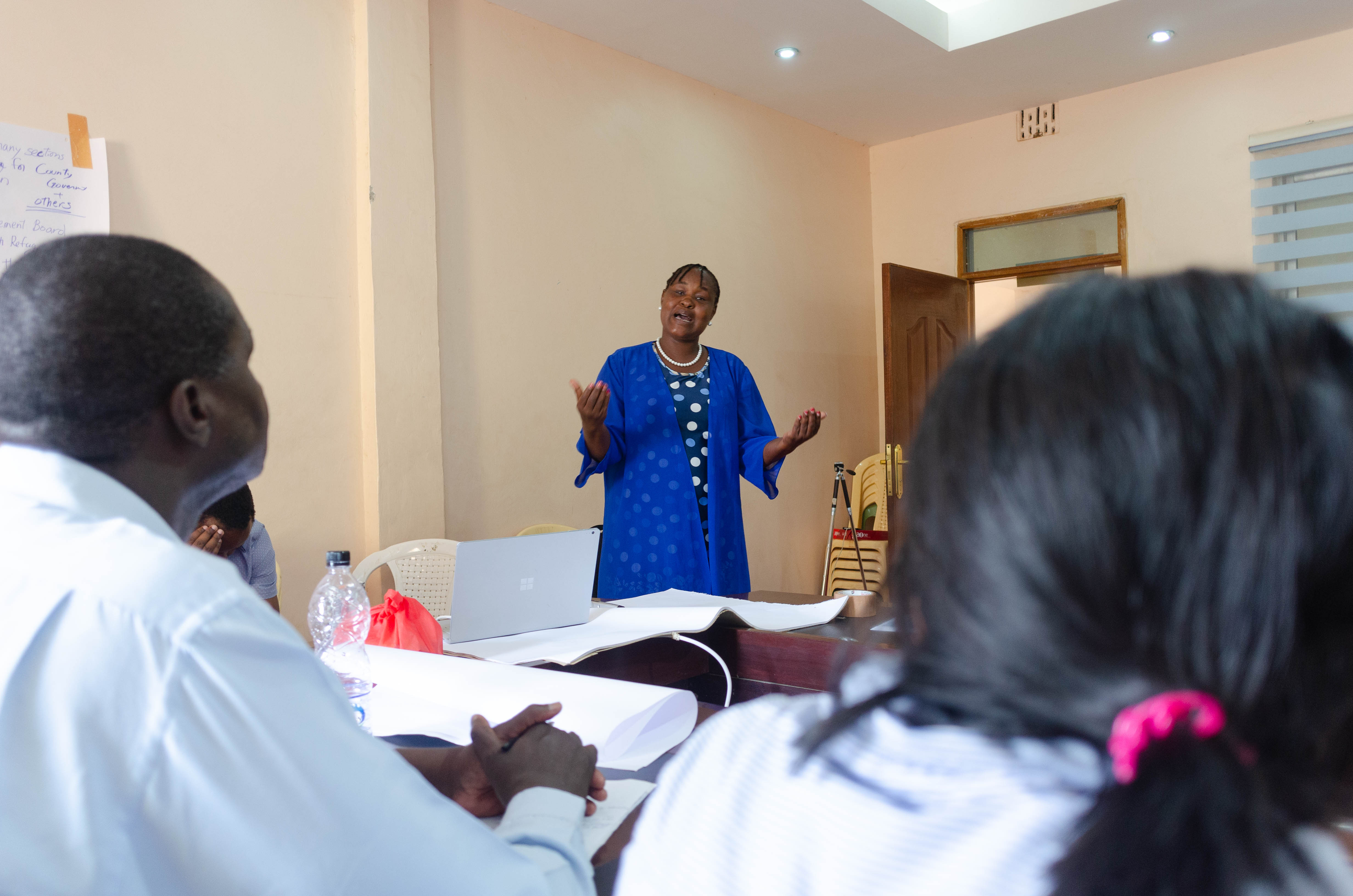 CECM Esther Lokwei Lokiyo offering her opinions on discussions within the workshop