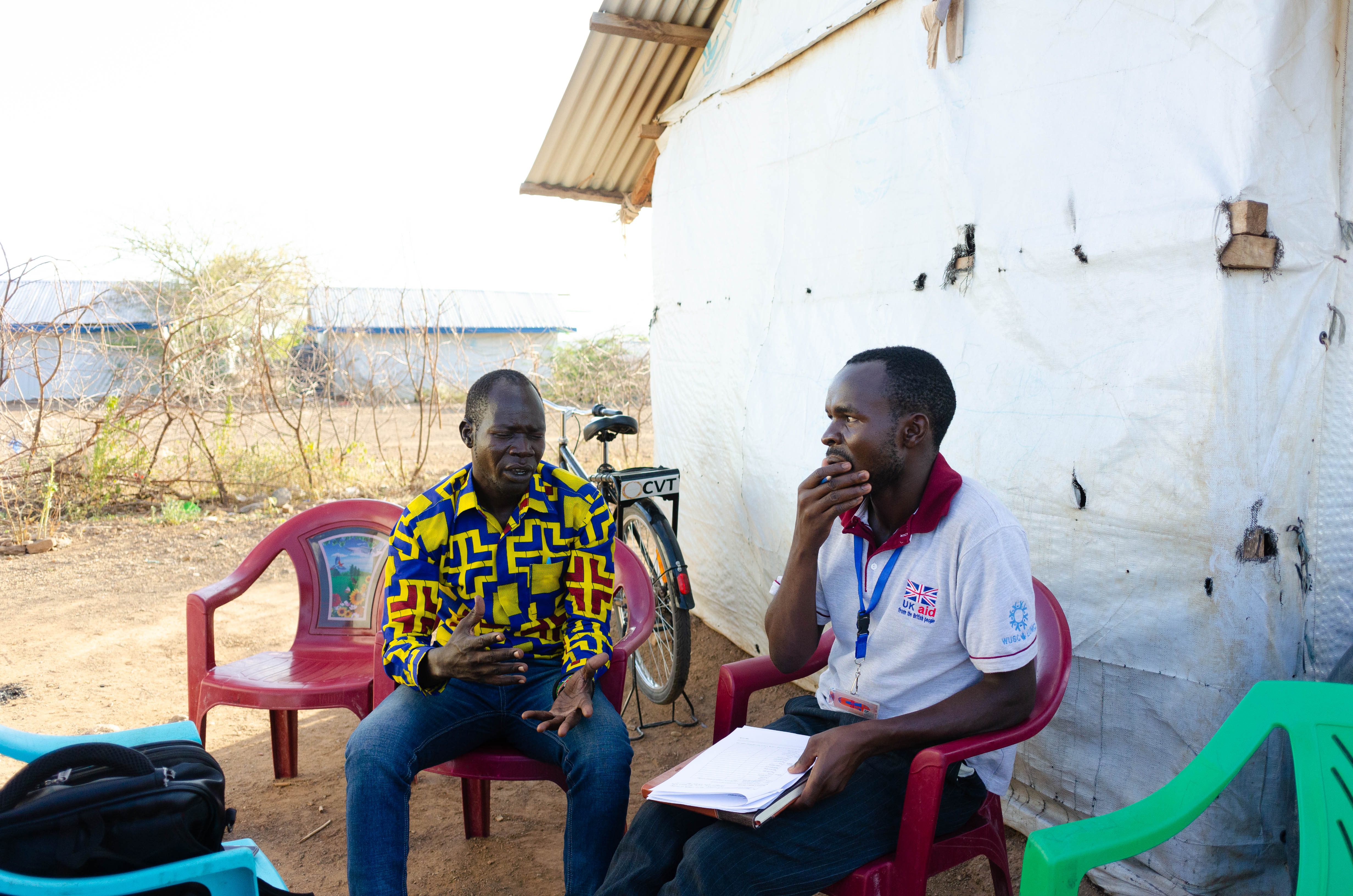 Research assistants from the local community engaging refugee community leaders