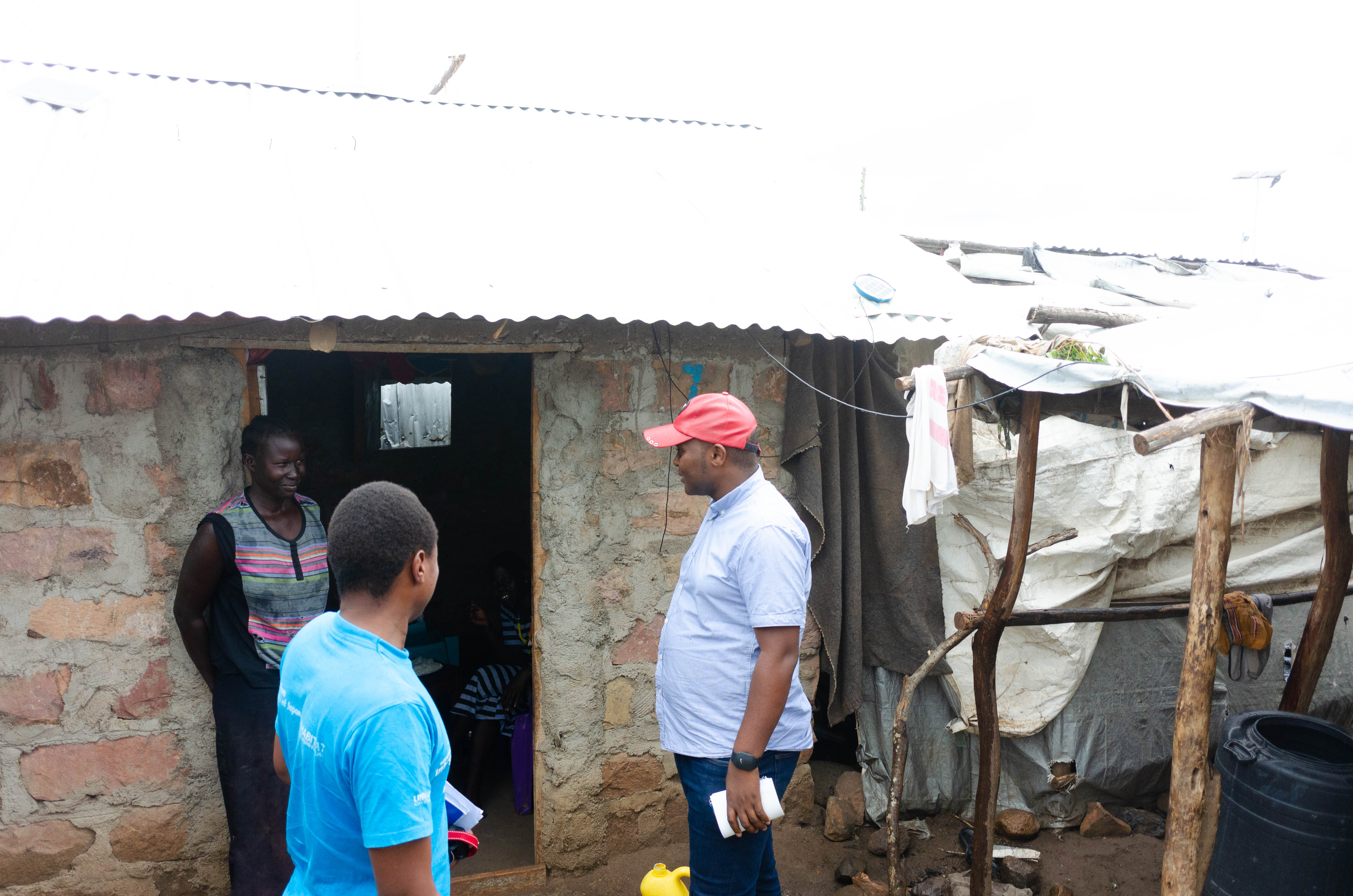 UN-Habitat Kakuma Field Office assessing ground conditions and interviewing residents in the area