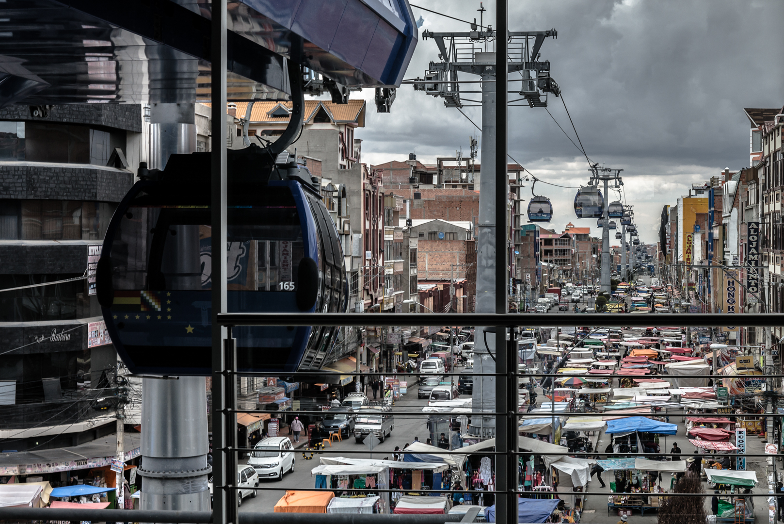 The aerial cable car transit system in Bolivia's second largest city El Alto