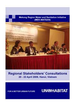 Proceedings of the Regional Stakeholders' Consultations for The Mekong Region Water and Sanitation Initiative (MEK-WATSAN) Cover-image