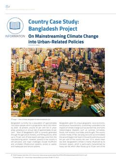 ountry Case Study: Mainstreaming Climate Change into Urban Related Policies Cover-image