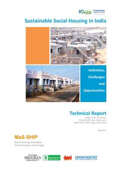 Sustainable Social Housing in India: definitions, challenges, and opportunities Cover-image
