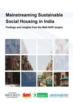 Mainstreaming Sustainable Social Housing in India Findings and insights from the MaS-SHIP project Cover-image