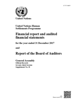2017 UN-Habitat Audited Financial Statements cover image
