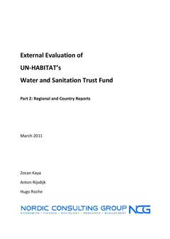 xternal Evaluation of UN-Habitat's Water and Sanitation Trust Fund (WTSF) - Cover image