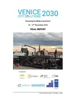 Final Report of the Venice City Solutions 2030-Cover image