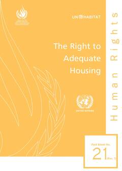 The Right to Adequate Housing: Fact Sheet No. 21/Rev.1; - Cover image