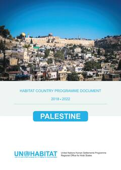 Habitat Country Programme Document, Palestine - Cover image