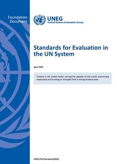 Standards for Evaluation in the UN System cover image
