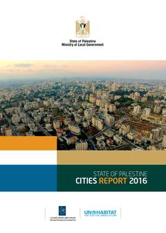 State of Palestine Cities Report - Cover image