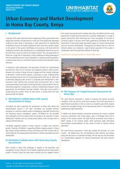 Urban Economy and Market Development in Homa Bay County, Kenya - Cover image