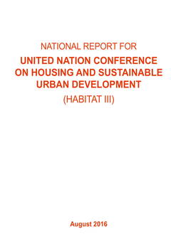 Vietnam National Report for United Nations Conference on Housing and Sustainable Urban Development (HABITAT III) - Cover image