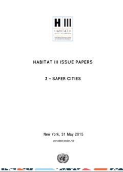 Habitat III Issue Paper 3: Safer Cities cover image