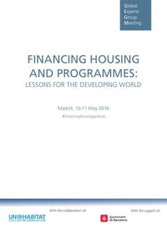 Financing National Housing Policies: Lessons for the Developing World - Cover image