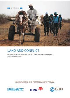 Land and Conflict: Lessons from The Field on Conflict Sensitive and Peacebuilding - Cover Image