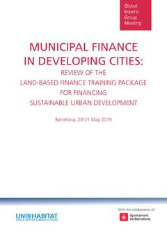 Municipal Finance In Developing Cities: Review Of Land-Based Finance Training Package for Financing Sustainable Urban Development - Cover image
