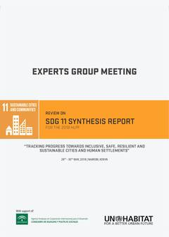 Review on SDG11 Synthesis Report for the 2018 HLPF - Tracking Progress Towards Inclusive, Safe, Resilient and Sustainable Cities and Human Settlements - Cover image