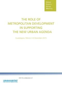 The Role of Metropolitan Development in Supporting the New Urban Agenda - Cover image