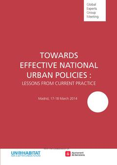 Towards Effective National Urban Policies: Lessons from Current Practice - Cover image