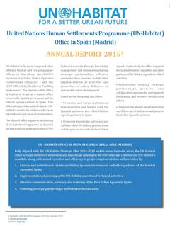 UN-Habitat Office in Spain Report 2015 - Cover image