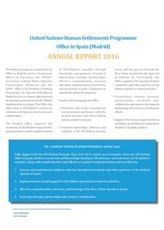 UN-Habitat Office in Spain Report 2016 - Cover image