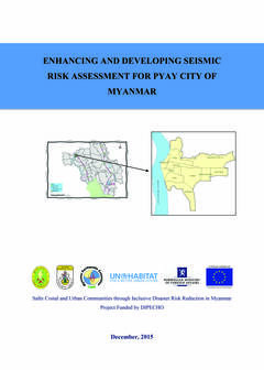 Enhancing and Developing Seismic Risk Assesment for Pyay City of Myanmar