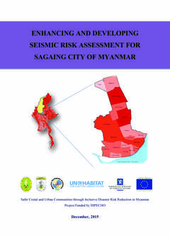 Enhancing and Developing Seismic Risk Assesment for Sagaing City of Myanmar - cover
