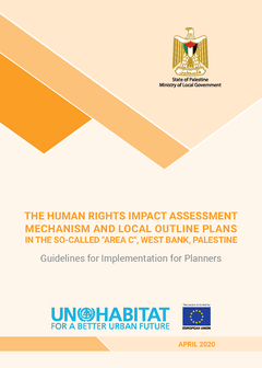 "The Human Rights Impact Assessment Mechanism and Local Outline Plans in the So-called ""Area C"", West Bank, Palestine: Guidelines for Implementation for Planners - Cover"