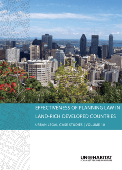Effectiveness of Planning Law in Land-Rich Developed Countries- Cover