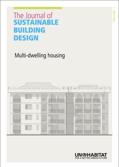 The Journal of Sustainable Building Design. Issue 1: Multi-dwelling Housing-cover