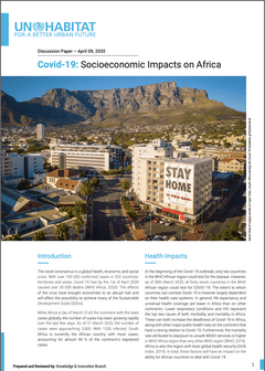 Discussion Paper – April, 2020: Covid-19: Socioeconomic Impacts on Africa - Cover