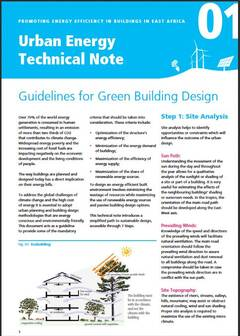 Urban Energy Technical Note 01: Guidelines for Green Building Design - cover