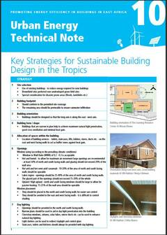 Urban Energy Technical Note 10: Key Strategies for Sustainable Building Design in the Tropics - cover