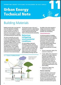 Urban Energy Technical Note 11: Building Materials - cover