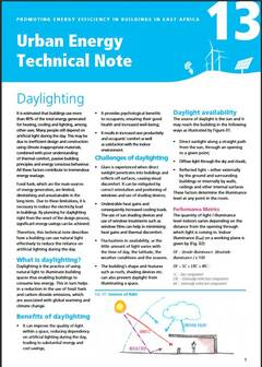 Urban Energy Technical Note 13: Daylighting - cover