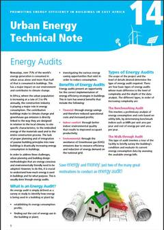 Urban Energy Technical Note 14: Energy Audits - cover