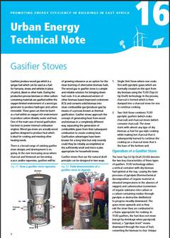 Urban Energy Technical Note 16: Gasifier Stoves - cover