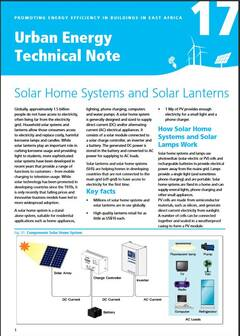 Urban Energy Technical Note 17: Solar Home Systems and Solar Lanterns -cover