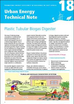 Urban Energy Technical Note 18: Plastic Tubular Biogas Digester - cover