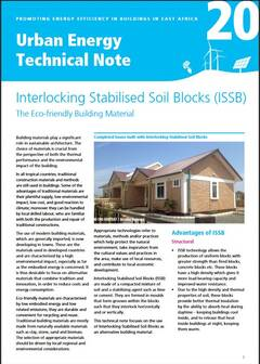Urban Energy Technical Note 20: Interlocking Stabilised Soil Blocks (ISSB) - cover