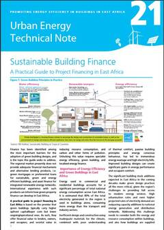 Urban Energy Technical Note 21: Sustainable Building Finance - cover