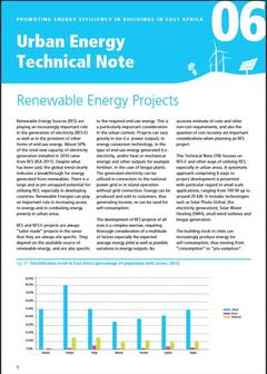 Urban Energy Technical Note 06: Renewable Energy Projects - cover