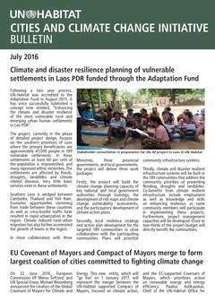 Climate and disaster resilience planning of vulnerable settlements in Laos PDR funded through the Adaptation Fund