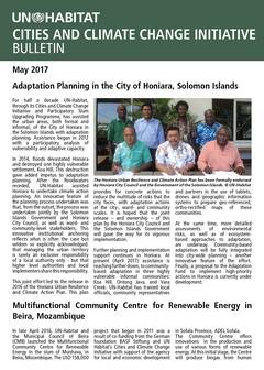 Adaptation Planning in the City of Honiara, Solomon Islands